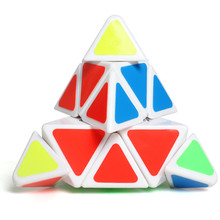 meibeile Kids Plastic ABS Puzzle Toys Educational Magic Cube Professional Speed Pyraminx Cube for Children Boys Girls(China)