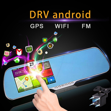 Android Full HD Dash Cam Mirror GPS navigator 1080P with Bluetooth Rear Camera Video Recorder dash cam Car RearView Mirror DVR(China)