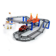 New Double Thomas track electric car children toys puzzle DIY assembling track with one car oyuncak
