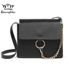 New Style famous brand Minimalist Crossbody Bag women Shoulderbag messenger diamond Chain Puzzle Ring bags for women(China)