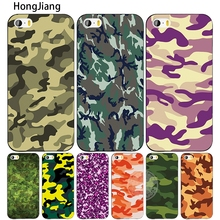 HongJiang Camouflage Camo army desert cell phone Cover case for iphone 4 4s 5 5s SE 5c 6 6s 7 8 X plus(China)