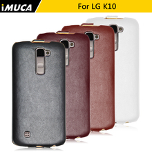 IMUCA pu leather case For LG K10 Phone Case for lg k10 LTE k420n K430 k430ds F670 conque capa for lg k10 case waterproof case(China)