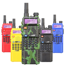 New Arrival BAOFENG UV-5R Walkie Talkie Long Battery 5W Dual Band Two Way Radio Free Headset