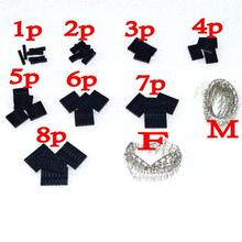 dupont kits 10 Values From 1P To 8P 2.54MM Pitch Dupont Housing + Dupont Male & Female Terminal Assortment Kit