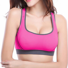 Fashion Women Wire Free Seamless Solid Bra Fitness Bras Tops Breathable Underwear Padded Push up Bra Full Cup
