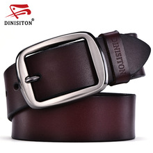 DINISITON cowhide genuine leather belts for men designer belts brand Strap male pin buckle fancy vintage jeans ceinture