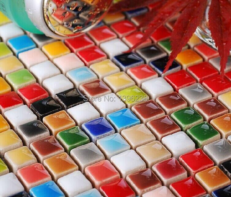 Ceramic tile for mosaic art