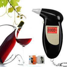 Black Digital Alcohol Breathalyzer Breath Tester LCD Breathalizer Tester Device Machine with Free mouthpiece Free shipping(China)