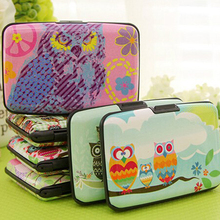 2016 Thin Cute Owl Multilayers Bag Pocket ID Credit Bus Card Wallet Holder Case  9IIY