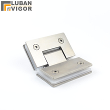 Solid 202 stainless steel 135degree bathroom folder, hinge, diamond-type shower glass Hinge, 135 degrees,hardware