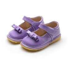 1-3Y Sping Autumn Princess Girl Shoes Purple Wedding Dress Shoes Baby Girl Nonslip Shoes(China)