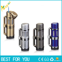 1pc Torch Material jobon double jet lighter torch flame usb gas Lighter cigarette Environmental matches cigar four color Gas(China)