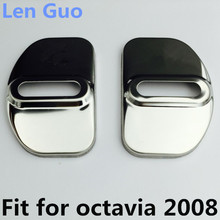 Car Door Lock Decoration  Stainless Steel Cover case for skoda octavia A5 2008 accessories