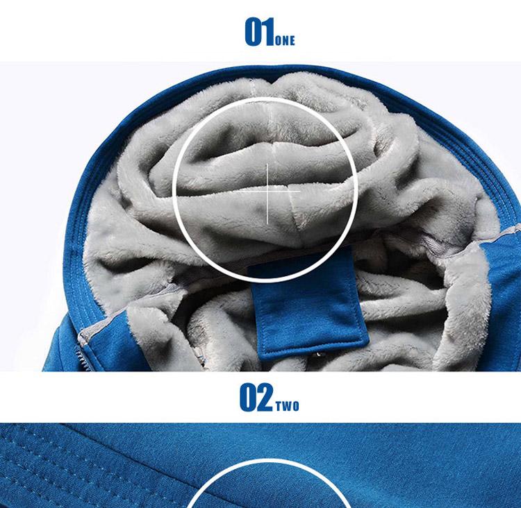 Hoodies Sweatshirt Men 17 New Autumn Winter Warm Thick Solid Casual Brand Tracksuit Men's Sweatshirts Hooded Plus Size 5XL 9