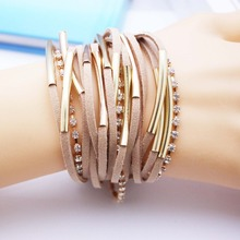 2015 Fashion Handmand Silver Tone infinity Charm MIX Colors Bracelet Suede Leather Bracelet ,Bracelet Best Gift(China)