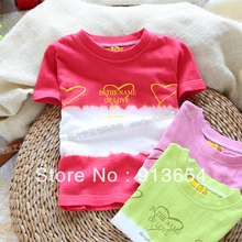 Free shipping Retail new 2013 summer baby clothes Family clothing fashion kids t-shirt top girls basic short sleeve t shirts(China)