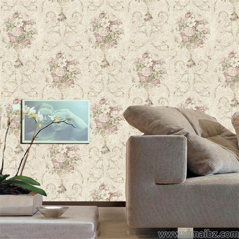 papel de parede American pastoral country flowers and plants The sitting room the bedroom TV setting wall on the wallpaper<br><br>Aliexpress
