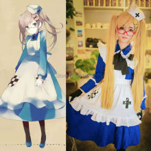 APH Axis Powers Hetalia Rosa Kirkland Uniform Maid Apron Dress Anime Cosplay Costumes