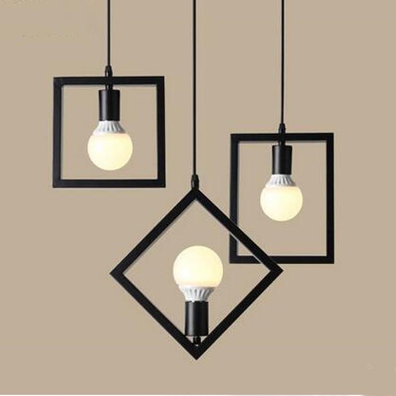 Vintage lamp Retro iron frame pendant light E26/E27  Restaurant bar sitting room lighting LED light fixture<br>