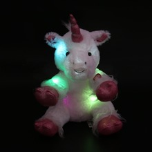 30cm/40cm LED Night Glowing Unicorn Stuffed Animal Toys Colorful Flashing Unicorn Dolls Lovely Gifts for Kids and Girls(China)