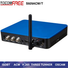 Satellite Receptor ISDBT Tocomfree S929acm/T + WiFi USB newcam cccam powervu for South America