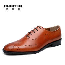Free Shipping Mens goodyear shoes business dress italian handemade shoes bullock lace up retro custom made genuine leather shoes(China)