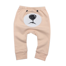 Baby Pants Cartoon Embroidered Animal Baby Boy Girl Leggings PP Pants 100% Cotton Trousers Baby Clothing(China)