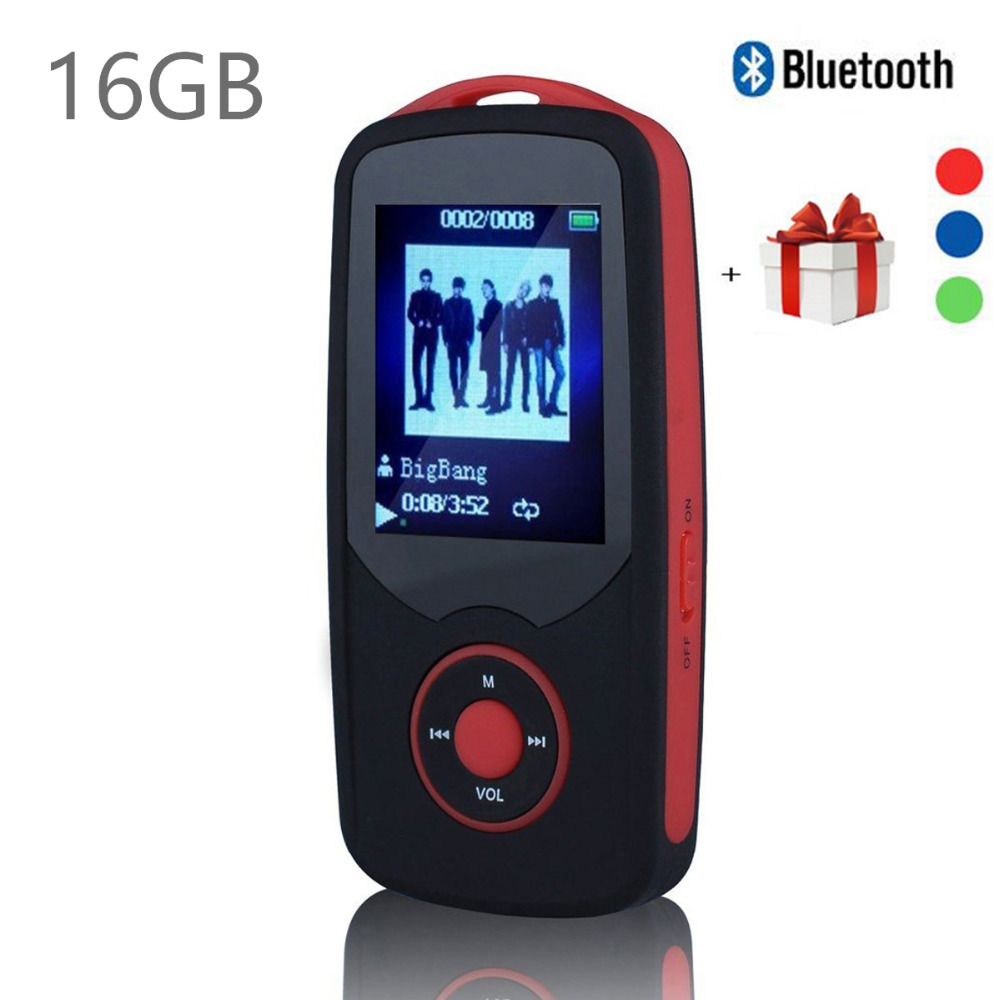 Factory Price 16GB Bluetooth Sports MP3 music Player RUIZU X06 MP3 Player 1.8 Inch 100hours high quality lossless Recorder FM(China (Mainland))