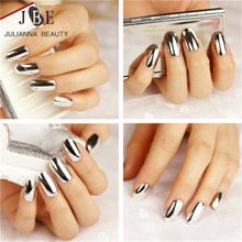 6 X New Mirror Fashion Nail Art Stickers 3D Beauty Gold Silver Bright Decals Nails Patch On Tips French Manicure Makeup Set(China)