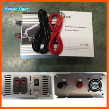 High Power TBE Auto Car Pure Sine Wave Power Inverter  1000W DC12V 24V 48V  to AC 110V 220V with Power Cord  Adapter