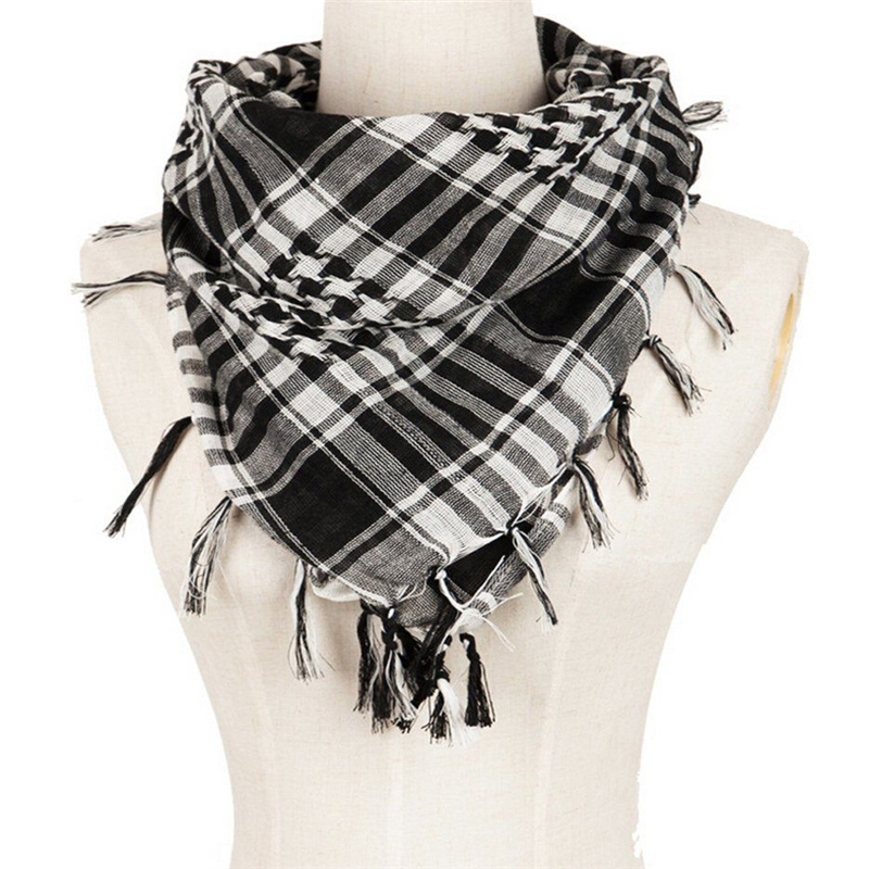 Fashion 2017 men scarf Lightweight Military Arab Tactical Desert Army Shemagh KeffIyeh Scarves(China)