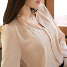 Buy 2017 Summer Women Chiffon Blouse Shirts Ladies White Elegant Sexy V-neck Blouse Long Sleeve Shirt Female Office Shirt Plus Size for $6.68 in AliExpress store