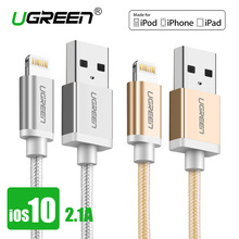 Ugreen Nylon Lightning to USB Cable for iphone 2.1A Fast Charger USB Data Cable for iPhone 6 5 5s iPad iPod Mobile Phone Cables