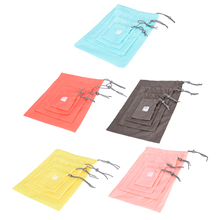 New 4 PCS/1set Clothes Storage Bag Waterproof Travel Drawstring Storage Bag Shoe Laundry Lingerie Makeup Luggage Organizer Pouch