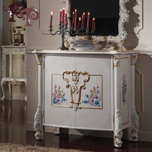 classical European Style Solid Wood Console With Mirror(China)
