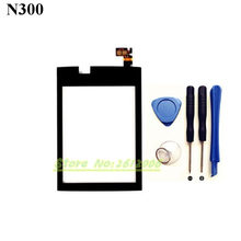 Original High Quality 3.0'' for Nokia Asha 300 N300 Black Touch Screen Digitizer Sensor Front Glass Lens panel + tools
