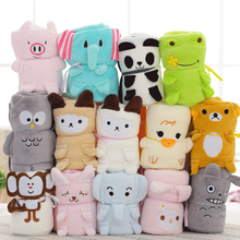 Customized Wholesale Creative Air Conditioner Lovely Cartoon Animal Design Summer 80*100 Super Soft  Baby Blanket