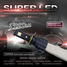 Universial kit H1 H3 H7 H8 H9 H11 9005/HB3 9006/HB4 20W 3200LM 6500K C-chip  LED Headlight Red copper heat dissipation belt bulb