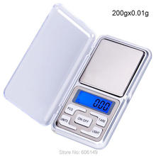 1X Mini Precision Digital Jewelry Scales 200g x 0.01g & 500g x 0.01g Display Units Pocket Electronic Kitchen Scales(China)