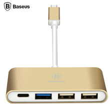 100 % original Baseus Series Type-C to Type-C HUB Adapter 3 in 1 Output Metal Case Data Switcher Mobile Phone Cables Hot Selling