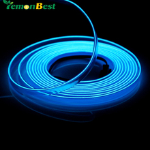 EL Wire Waterproof 3M Flexible Neon Tube Light  Rope IP67 AC 12V Red Blue Cool White For Wedding ,Garden, Holiday Decoration