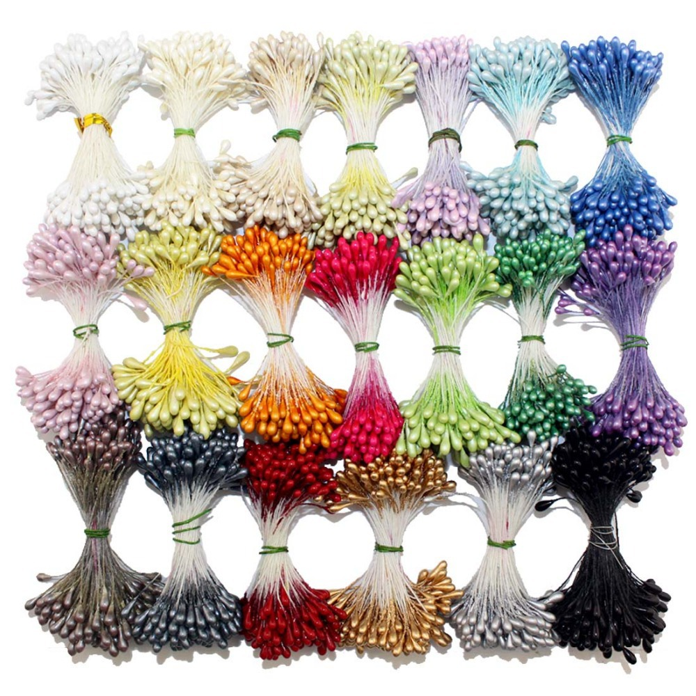 retail 3mm double tips eco-friendly DIY pearl stamen cake decoration/crafts/Nylon flower (1440pcs/lot)