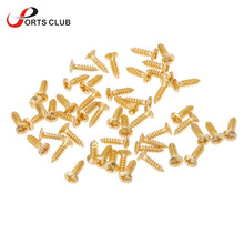 50pcs/set 3mm Pickguard Screws for Guitar Pickguard Scratch Plate Gold Plating Design Guitar Parts & Accessories