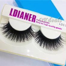 1Pair Professional Black Natural Sparse Cross Eye Lashes Extension Makeup Long False Eyelashes Extension Tools(China)