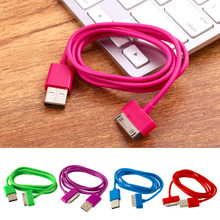 Hot Sale 100 cm USB Charger Charging Sync Data Cable Flex  For iPad2 3 For iPhone 4 4S 3G 3GS For iPod Nano Touch Good Quality