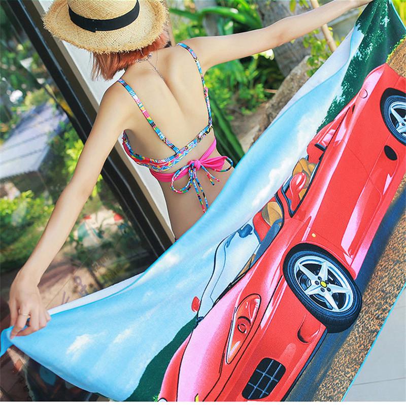 Micro Fiber Printed Beach Towel 140*70cm 45