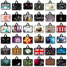 "Soft Neoprene Notebook Bag Smart Cover Tablet Bag Sleeve Carry Case Pouch Handbag For 7""-17"" Apple Dell HP Acer Laptop Tablet PC(China)"