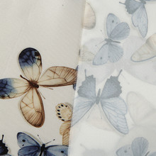 1 meter Fashion vintage handmade DIY Butterfly Fabric Digital printing Clothes Cloth Dress Fabric