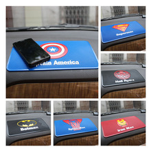 New Car accessories mat cell phone superman non slip pad cartoon dashboard car slip sticker car sticky anti-slip mat