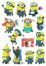 Despicable Me 2 PVC Waterproof Car And Motorcycle Luggage Fridge TV Diy Stickers For Tablet PC Laptop Macbook Skin Sticker(China)